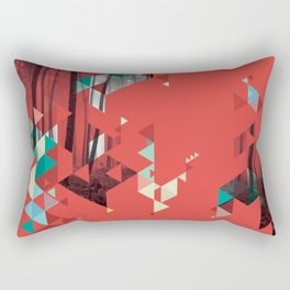 Red forest Rectangular Pillow