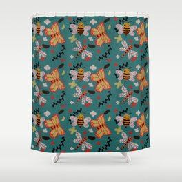 Bug Pattern Shower Curtain