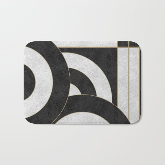 Geometric Marble 01 (abstract) Bath Mat