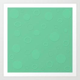 Medium Aquamarine Circles Art Print