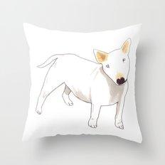 Bull Terrier Throw Pillow