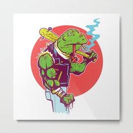 Bullfrog Bruiser Metal Print