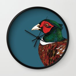 Woodland Pheasant  Wall Clock