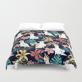 Cockatoo & Tropical Flora Duvet Cover