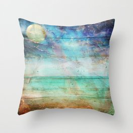Beach Lapis Throw Pillow