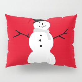 Christmas Snowman-Red Pillow Sham