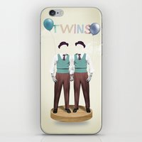 twins iPhone & iPod Skins featuring TWINS by Nazario Graziano