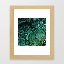MALACHITE GREEN Framed Art Print