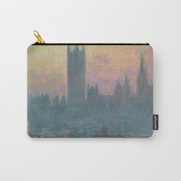 The Houses of Parliament  Sunset by Claude Monet Carry-All Pouch