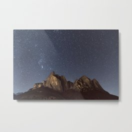Stars over the Dolomites | Nature and Landscape Photography Metal Print