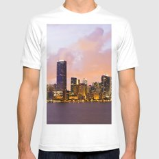 Miami Skyline MEDIUM Mens Fitted Tee White