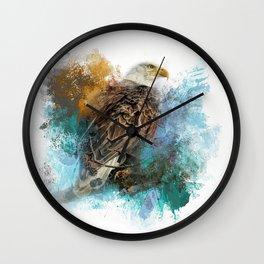 Expressions Bald Eagle Wall Clock