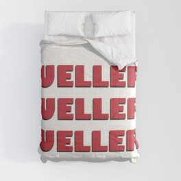 Bueller? Bueller? Bueller? 80s Movie Style Logo, Original Comforters