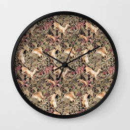 Wild life pattern Wall Clock