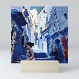 Chefchaouen Girls, Morocco Mini Art Print