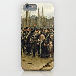 Isaac Lazarus Israels - Transport Of Colonial Soldiers - Digital Remastered Edition iPhone Case