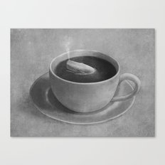 Whale in a tea cup  Canvas Print