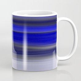 Dark Night Seascape Abstract In Blue Coffee Mug