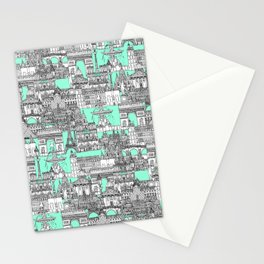 Paris toile aquamarine Stationery Cards