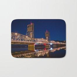 Stillwater MN Lift Bridge at Night Bath Mat