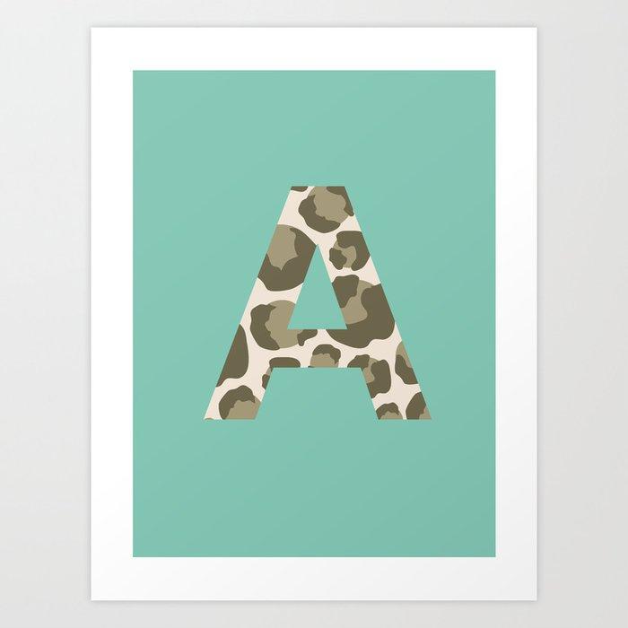 Feline Initial Art Print