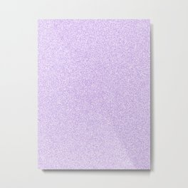 Melange - White and Light Violet Metal Print