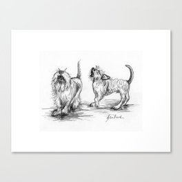 Milo and Minnow Sing in Harmony Canvas Print