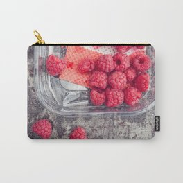 Raspberries in plastic container Carry-All Pouch