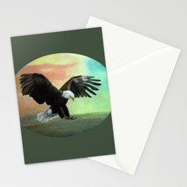 Bald Eagle Landing Freedom Stationery Cards