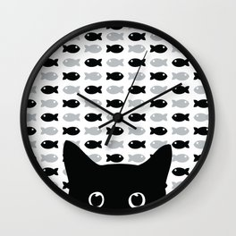 Crazy Cat Eyes Wall Clock