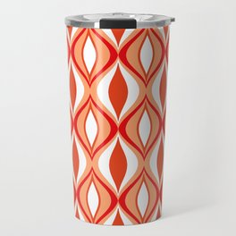 Mid-Century Modern Diamonds, Orange and White Travel Mug