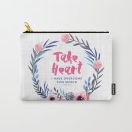 John 16:33 Take Heart Carry-All Pouch