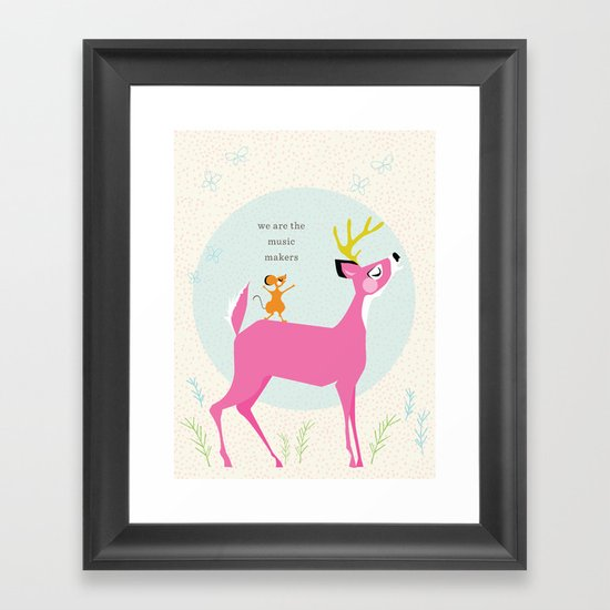 Music Makers (Pink) Framed Art Print