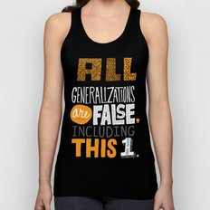 All Generalizations Unisex Tank Top