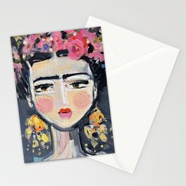 Portrait Inspired by Frida Stationery Cards