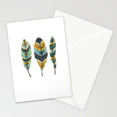 Midnight Feather Trio Stationery Cards