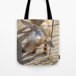 It really gets my goat when all those people stare at me Tote Bag