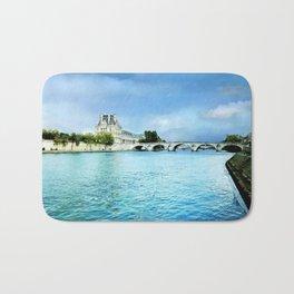 Seine River - Paris France Bath Mat