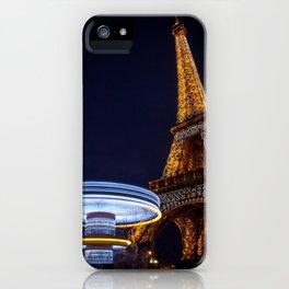 Eiffel Carousel iPhone Case