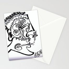 Smoke under water Stationery Cards