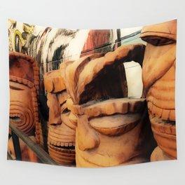 Tiki 3 Wall Tapestry