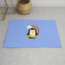 Penguin Rainbow from Milan T-Shirt for all Ages Rug