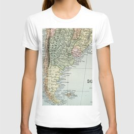 Vintage Map of the South of America T-shirt