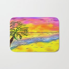 Sunset Beach Bath Mat