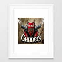 arsenal Framed Art Prints featuring ARSENAL by Acus