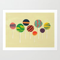 Sweet lollipop Art Print