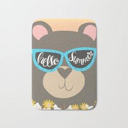 Hello Summer Bear Bath Mat