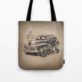 car racing Tote Bag