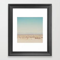 in the middle of the desert ... Framed Art Print