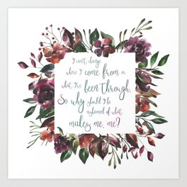 The Hate U Give Angie Thomas Quote Art Print